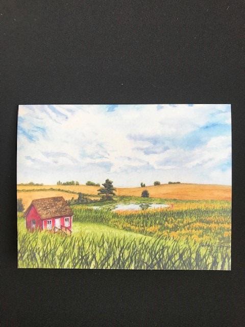 Blank card, Jens Jensen Prairie Landscape Park, Individual card with envelope