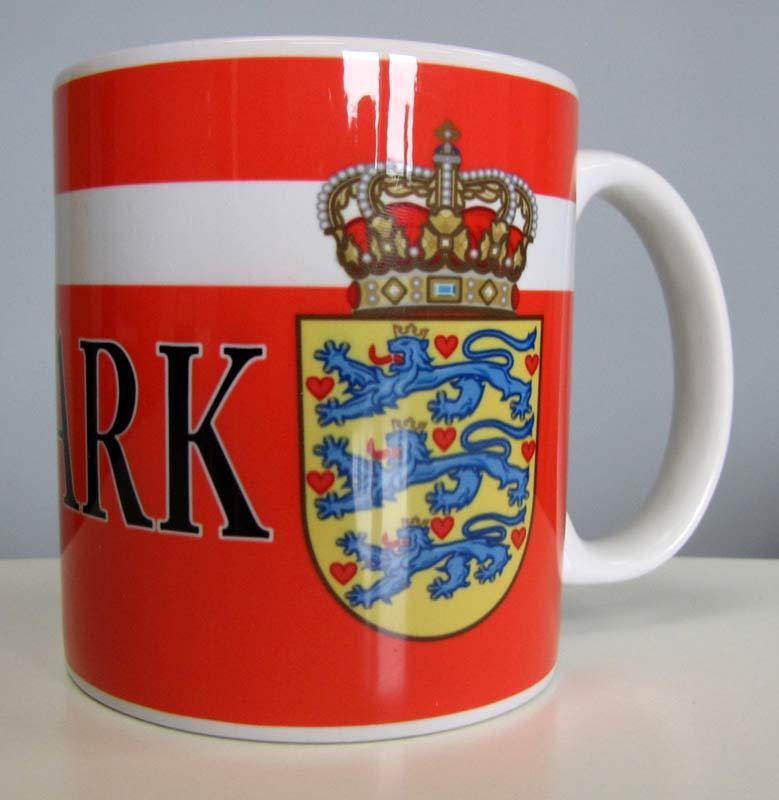 Denmark Flag & Crest, Mug