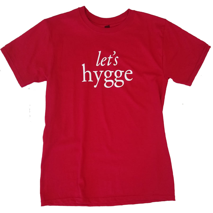 Let's Hygge T-Shirt, Red - Small