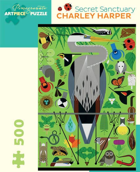 Charley Harper, Secret Sanctuary 500-Piece Jigsaw Puzzle