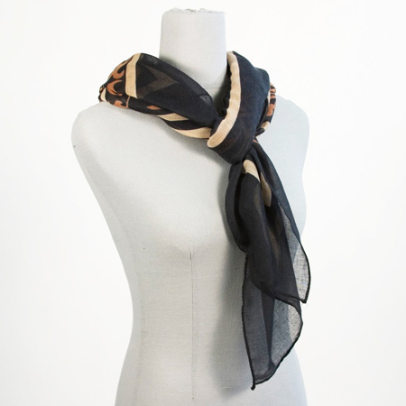 Laurie Scarf - Black, Camel, and White