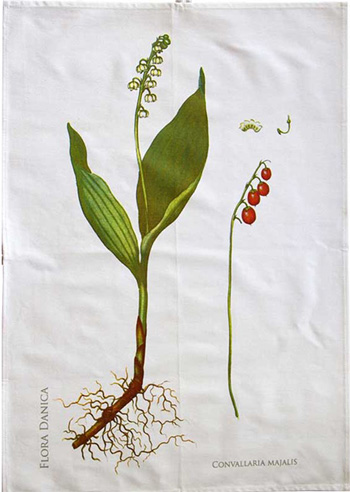 Koustrup & Co. Organic Tea Towel, Lily of the Valley