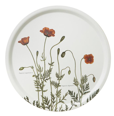 Koustrup & Co. Serving Tray, Flora Danica Poppy, Round