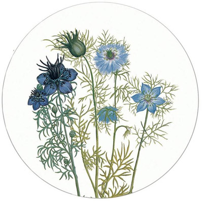 Koustrup & Co. Drink Coasters, Love In A Mist, Round (set of four)