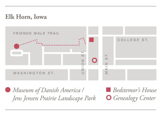 Area Map for Museum of Danish America Responsive image